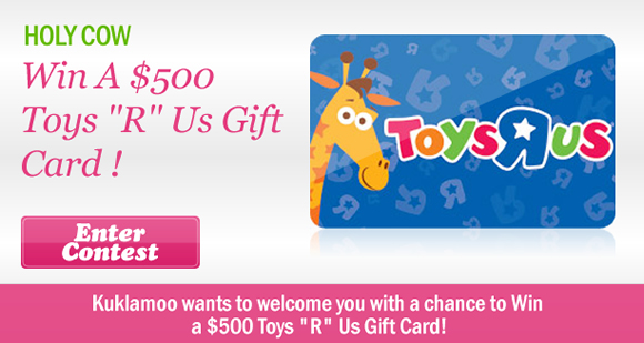 Win a $500 Toys 'R' Us Gift Card from Kuklamoo!